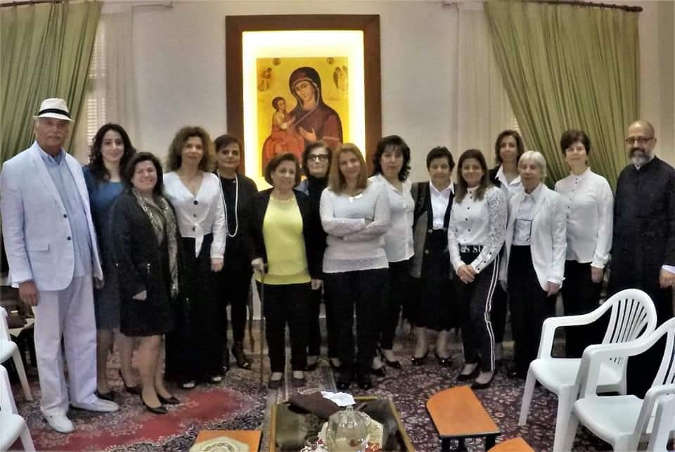 Ladies Gathering in Church Salon